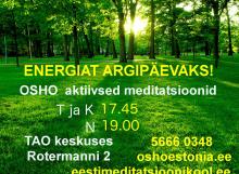 Instituut soovitab: OSHO aktiivsed meditatsioonid